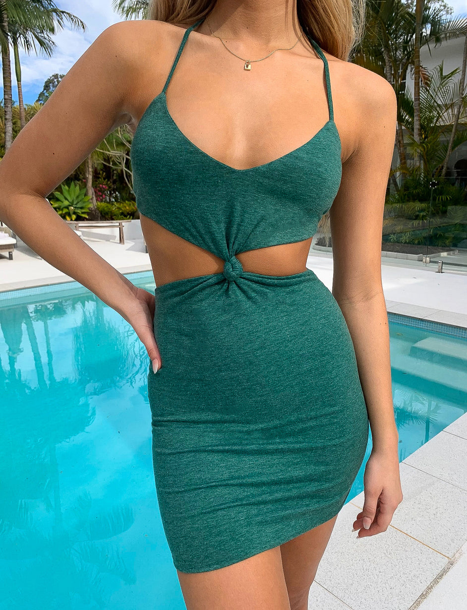 MARA DRESS - EMERALD