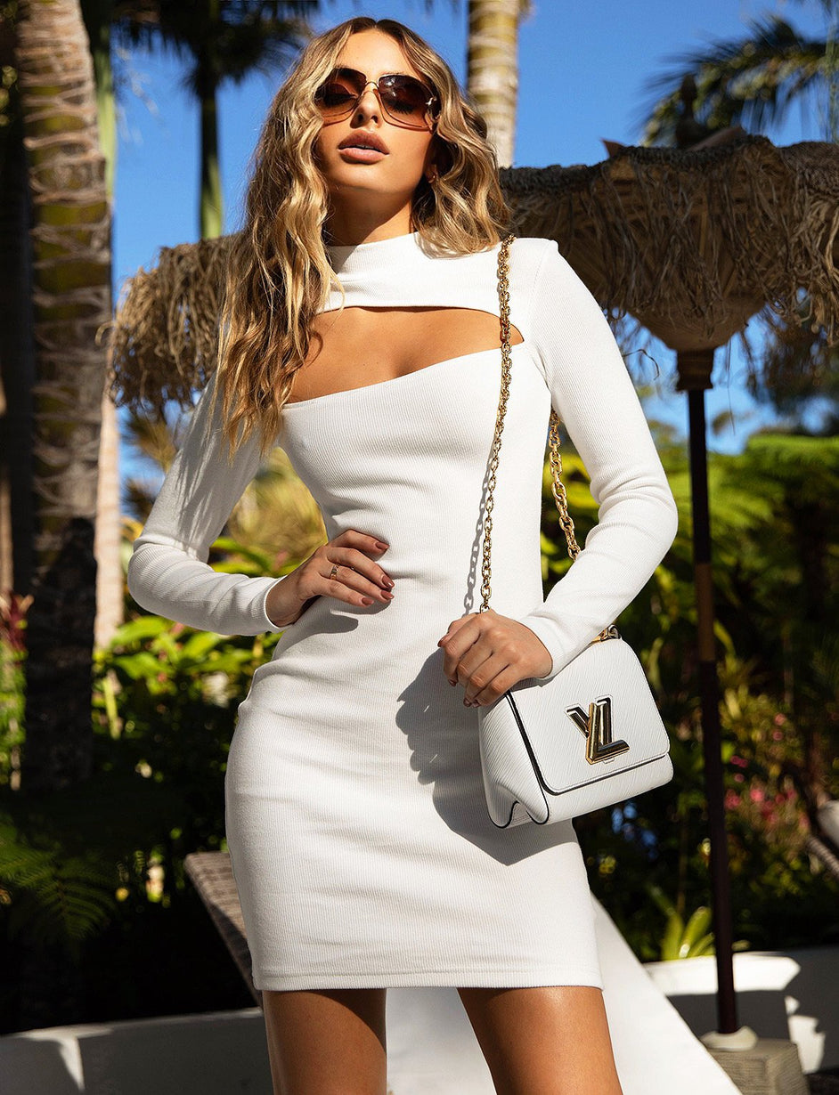 Bambie Long Sleeve Dress - White