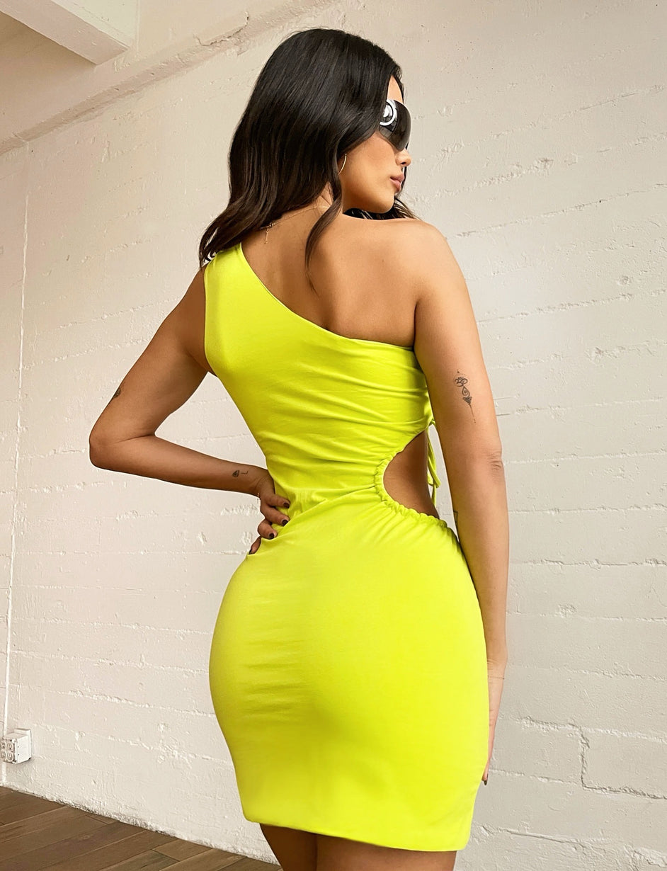 NICOLETTE DRESS - LIME