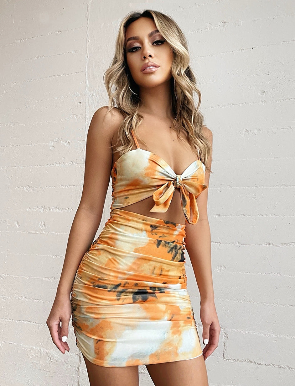 LISLE DRESS - ORANGE