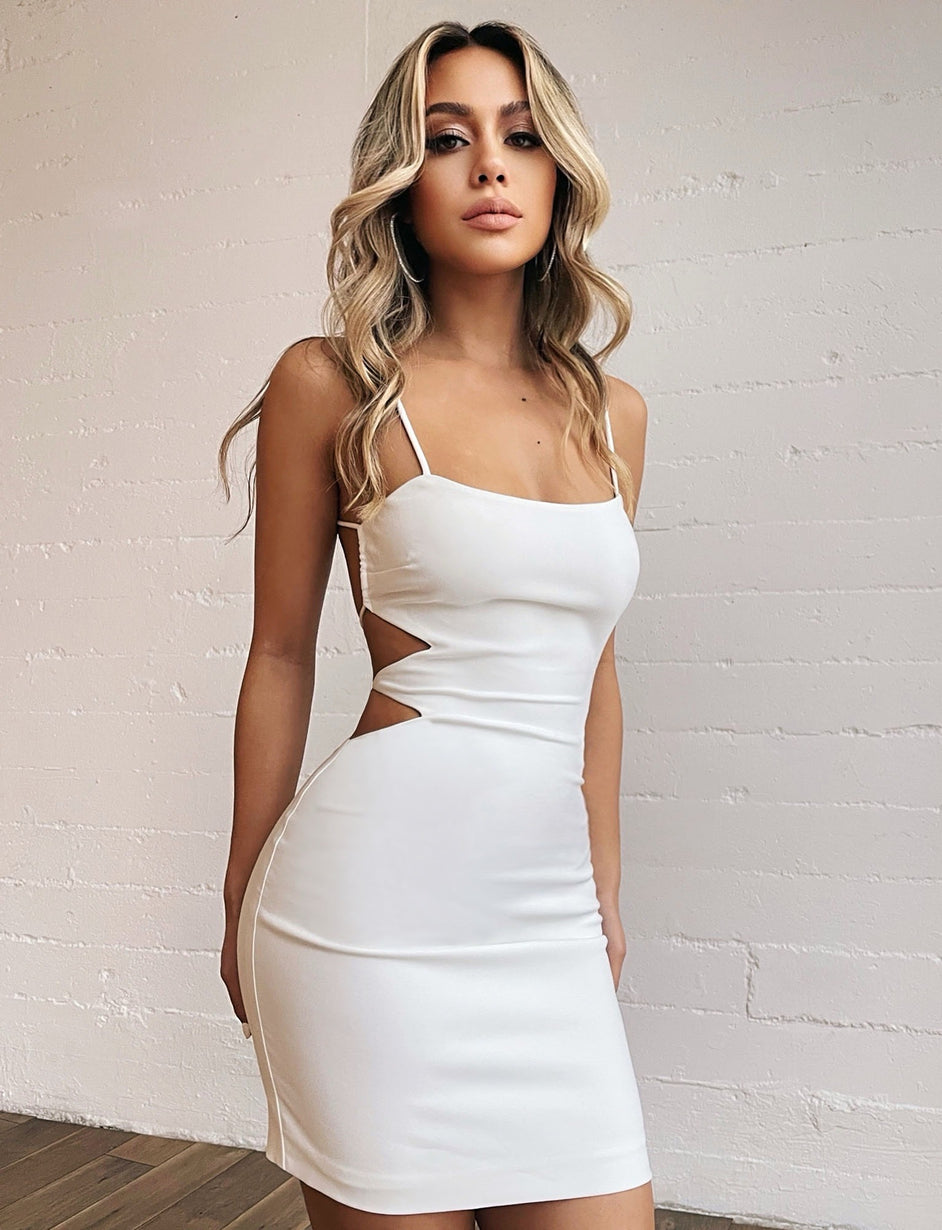 KEELIS DRESS - WHITE