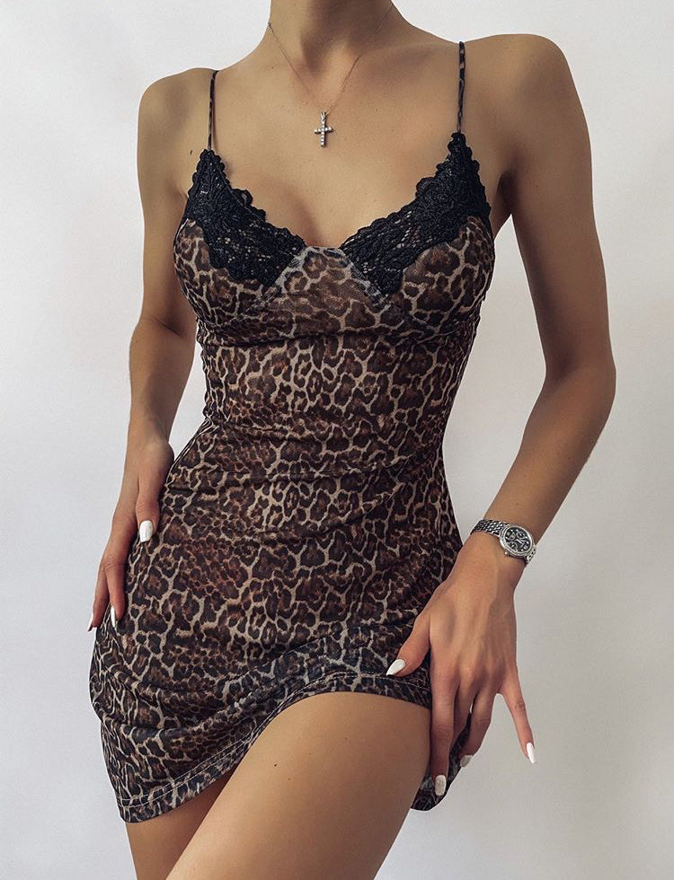 ROMANCING NIGHTIE - LEOPARD