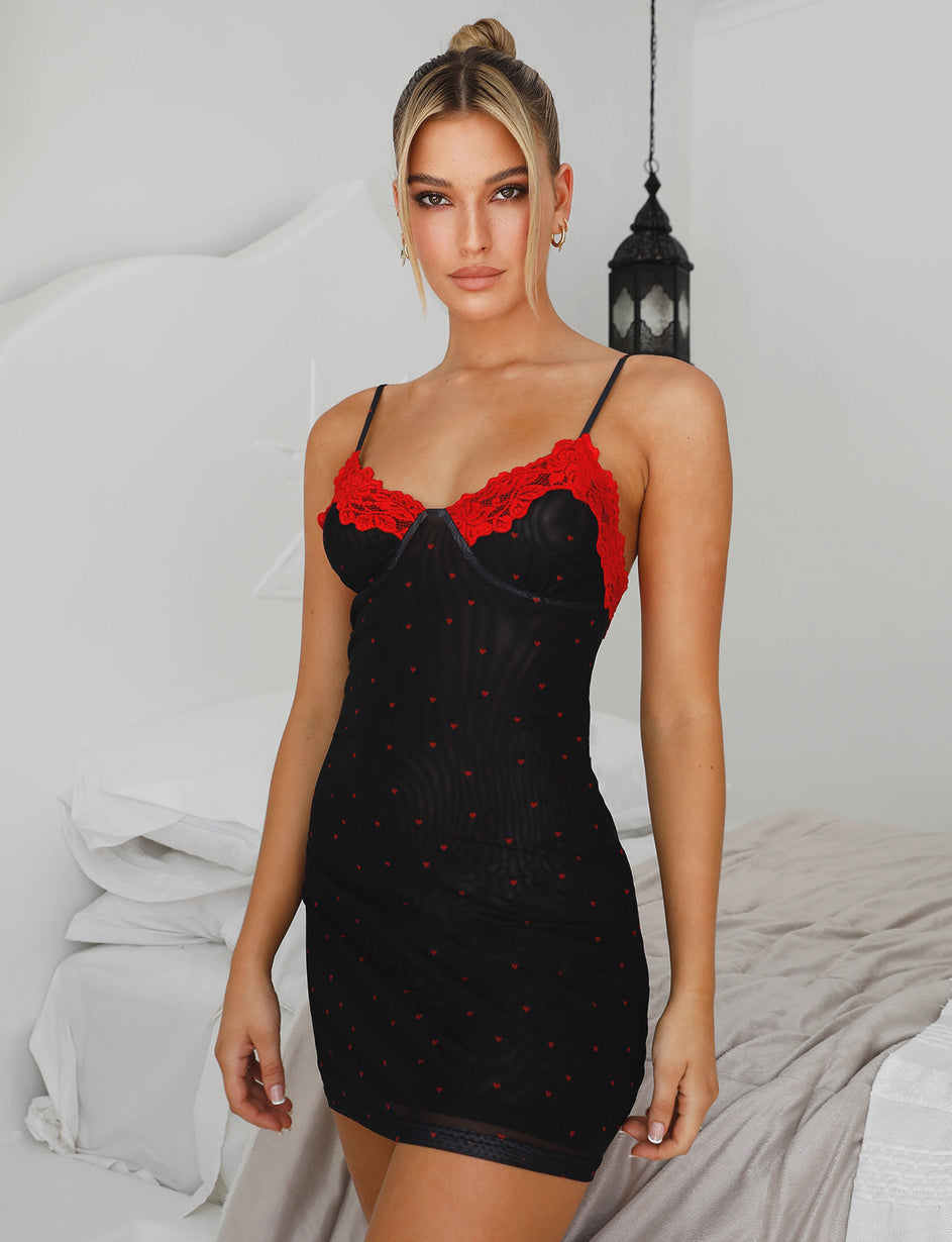 ROMANCING NIGHTIE - BLACK