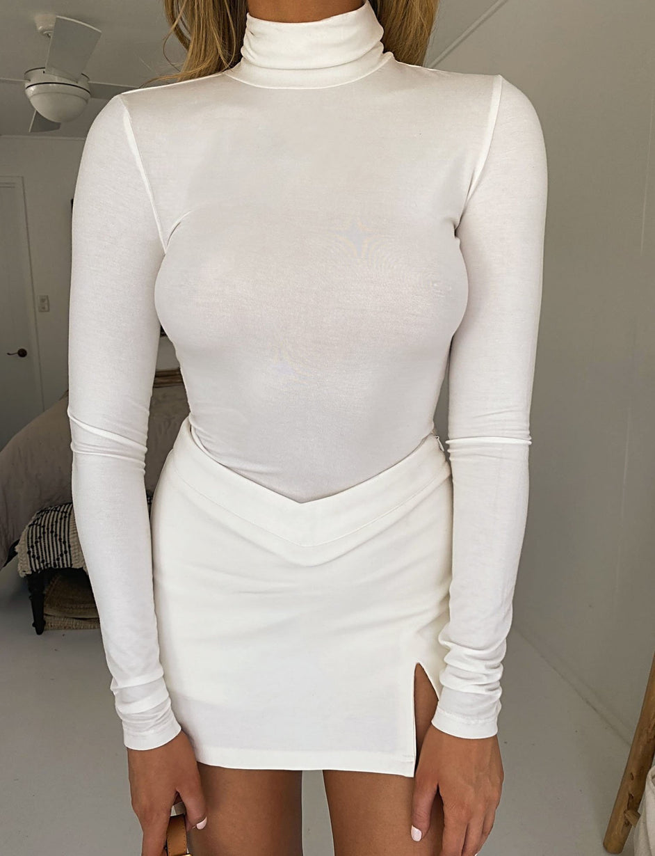 Casey Turtleneck - White
