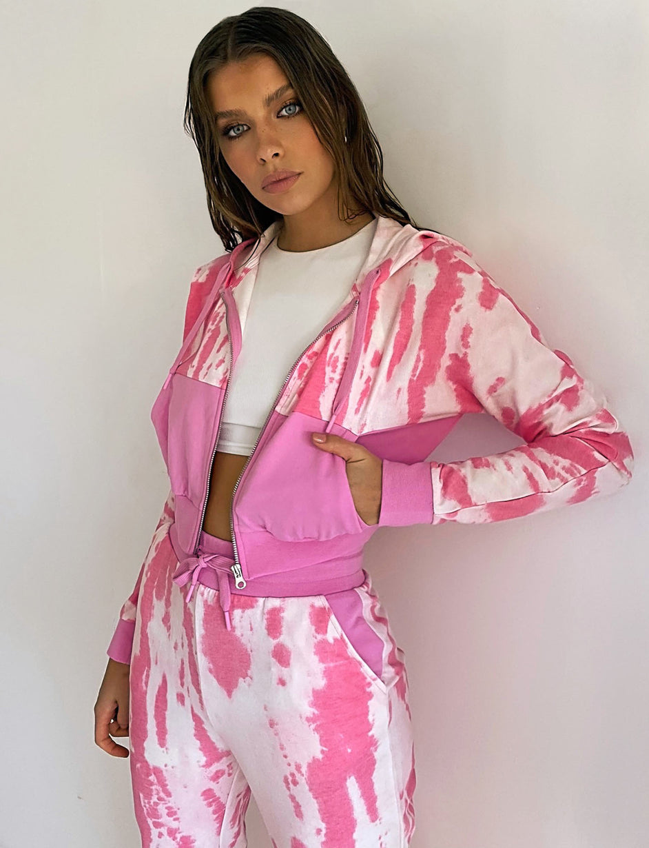 Power Trackpant - Pink Tie Dye
