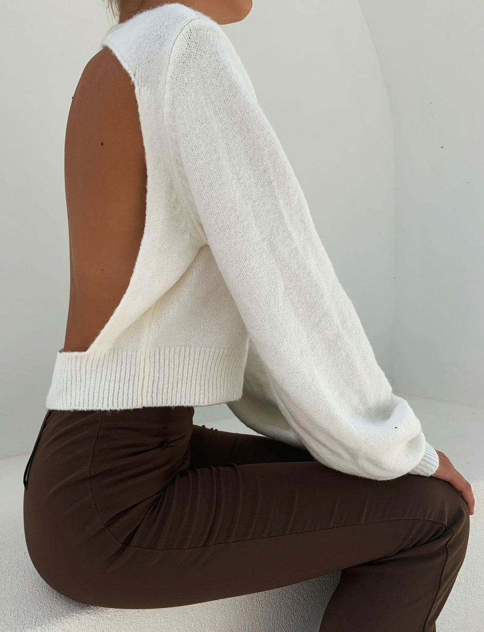 ADELINE JUMPER - WHITE