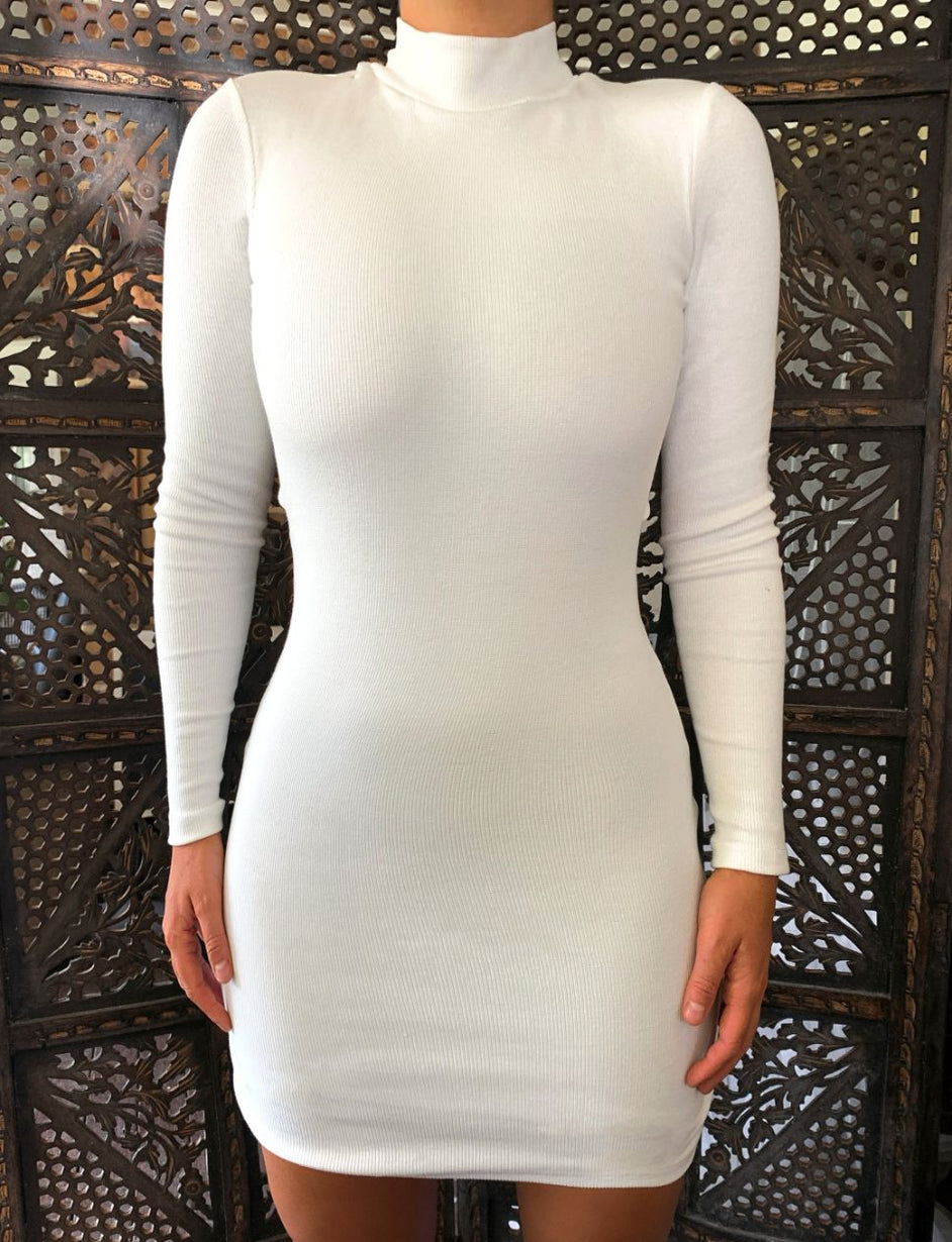 CAITIE DRESS - BEIGE