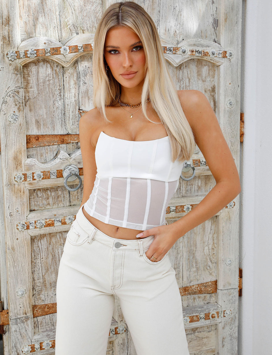 CAYSIE TOP - WHITE