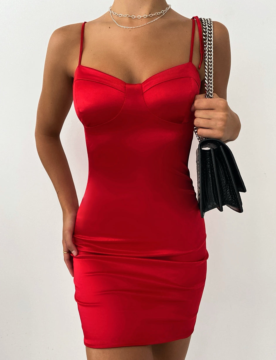 FIORA DRESS - RED