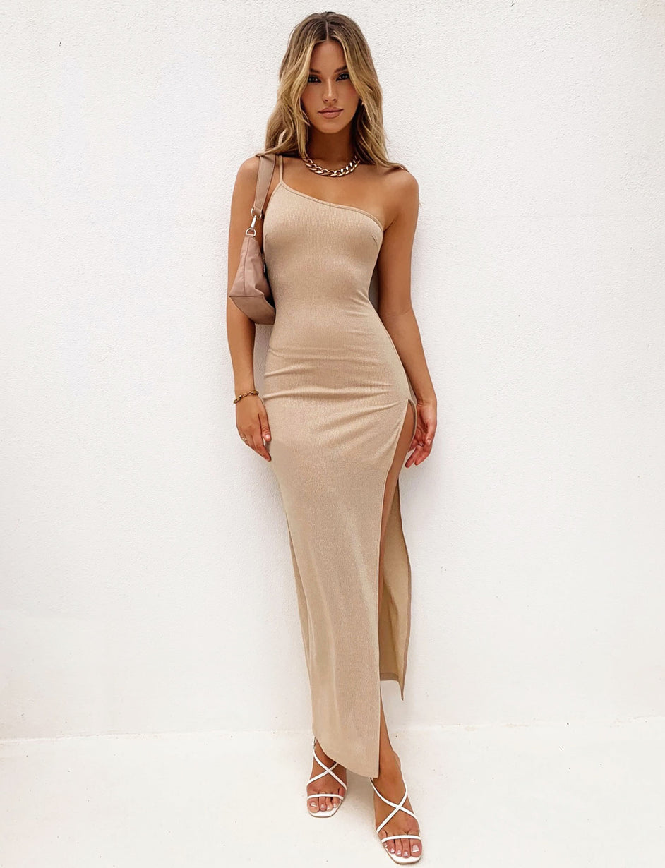 AUDRA MAXI DRESS - GOLD