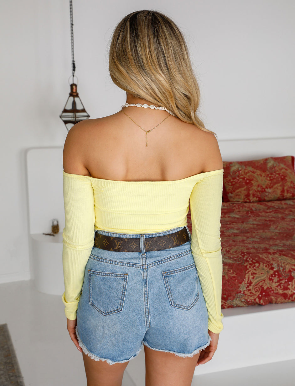 Sweetheart Crop - Yellow