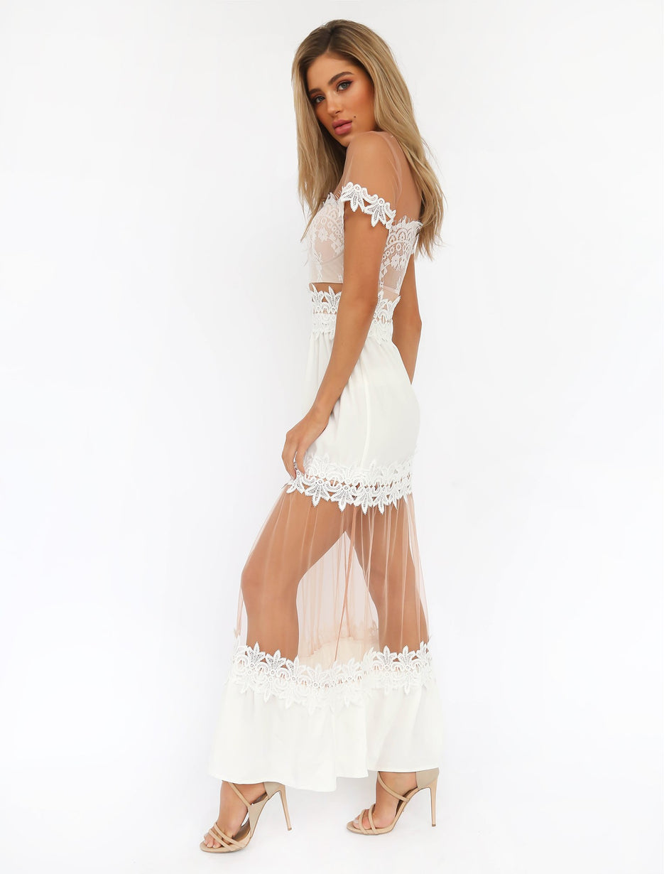 High Class Maxi Dress - White