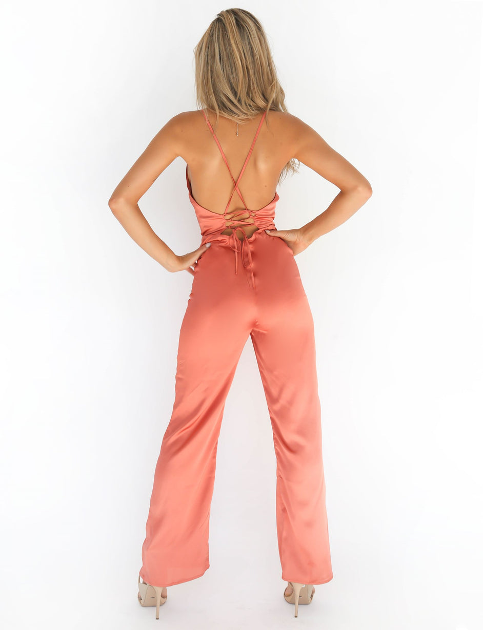 Over Again Jumpsuit - Orange