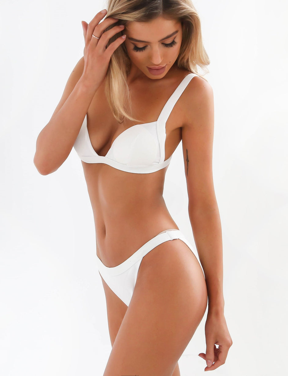 Rosalie Bay Triangle Top - White