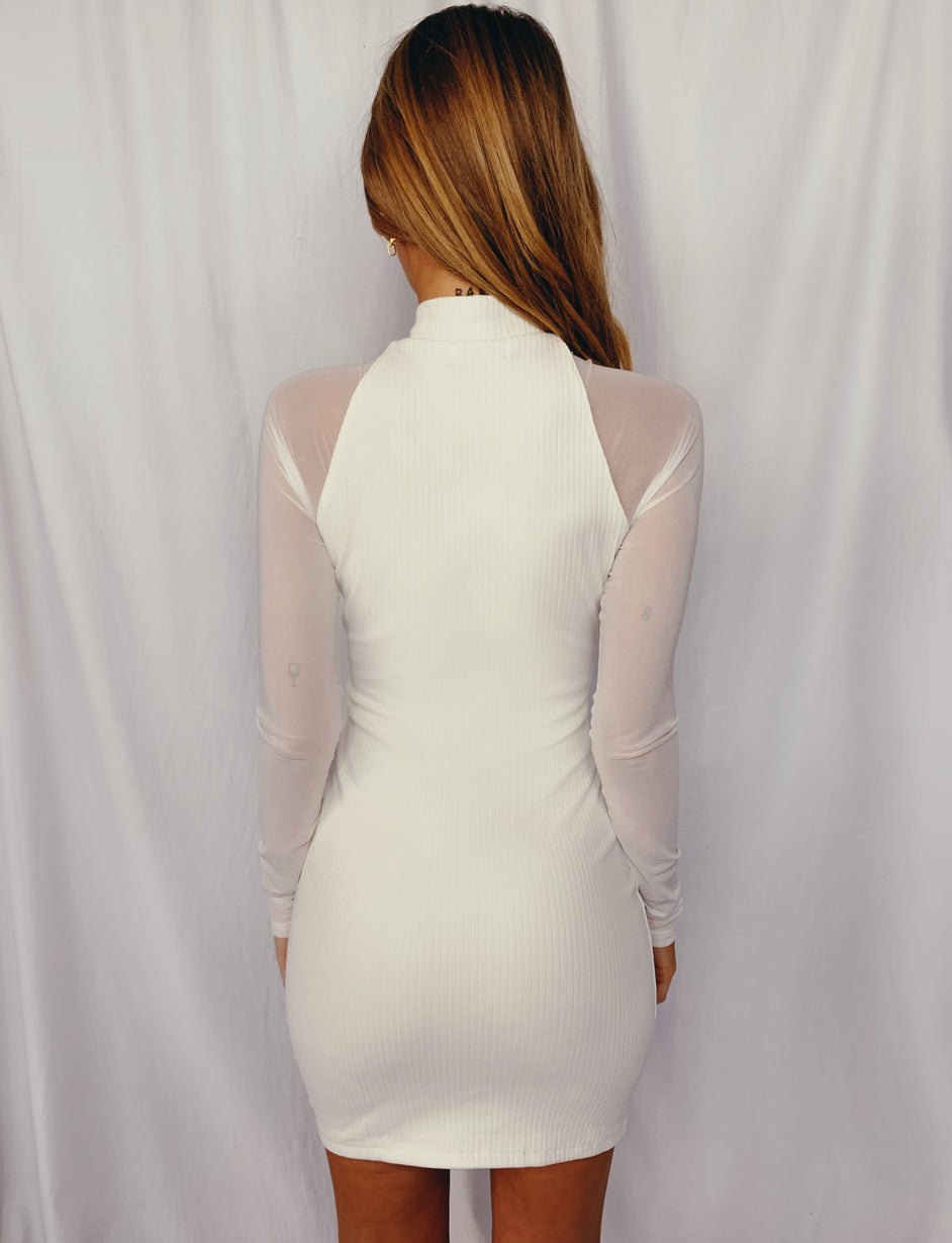 Geri Dress - White