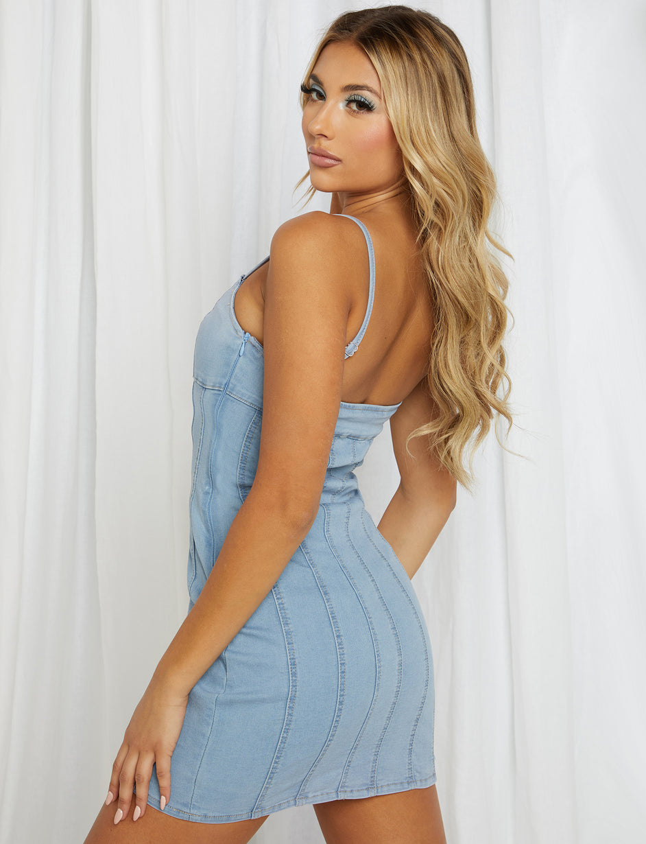 Breanna Dress - Denim