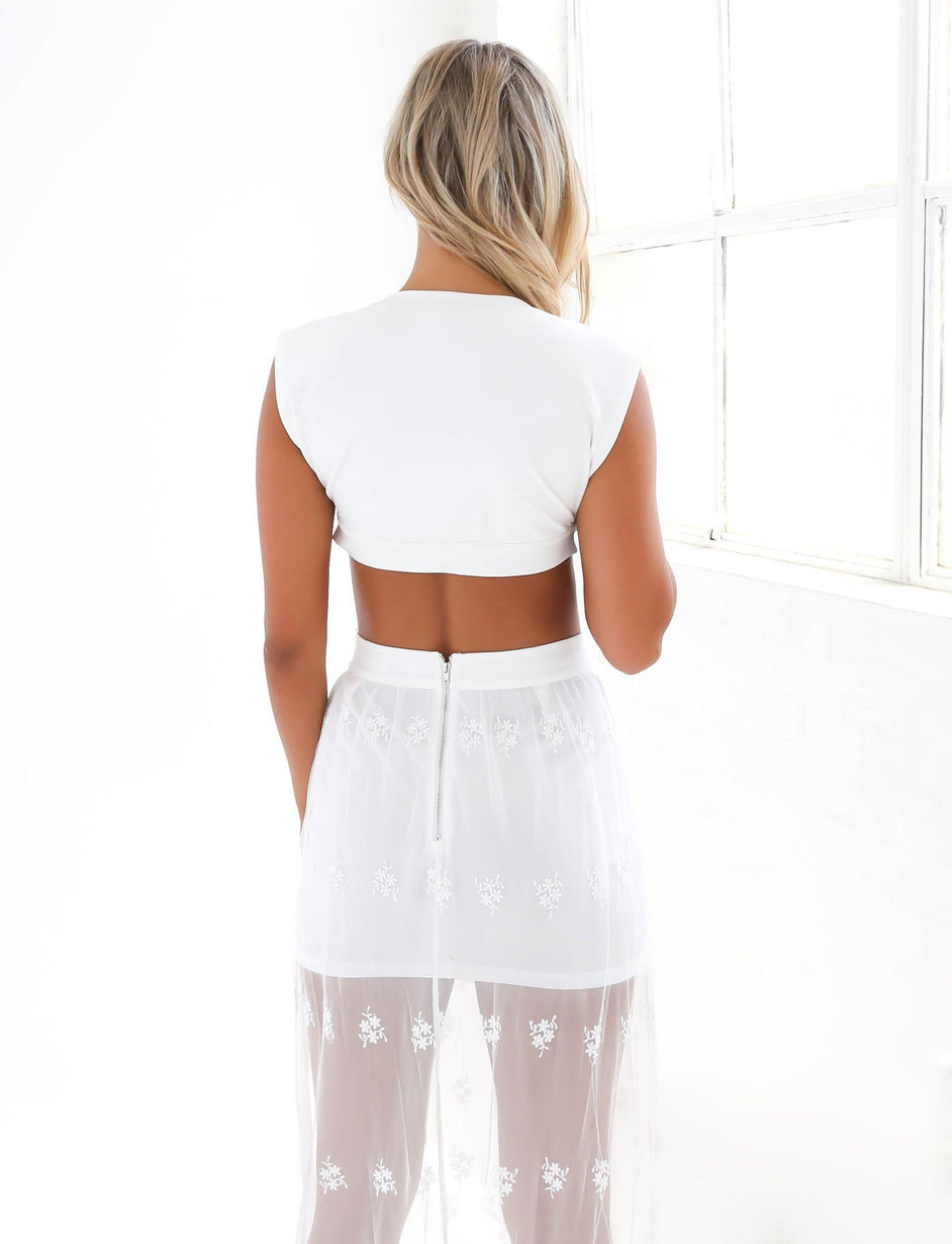 Sammi Lace Skirt - White