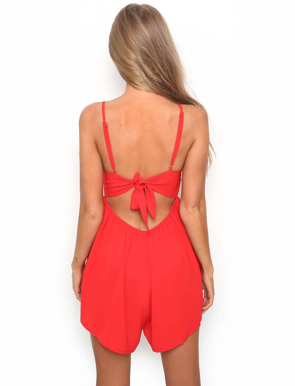 Firecracker Playsuit - Red