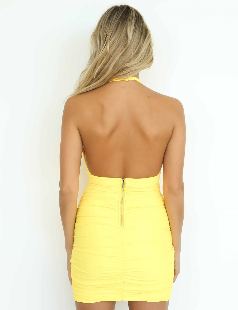 Not Your Girl Dress - Yellow