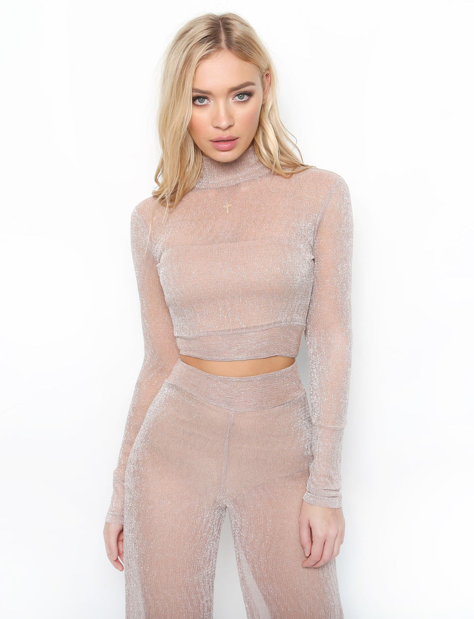 Bell Top - Blush Metallic
