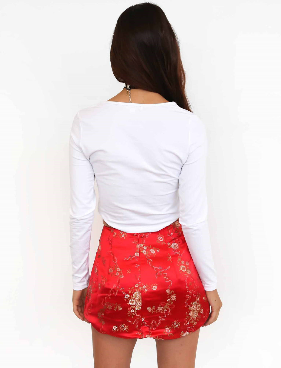 Kiko Skirt - Red Oriental