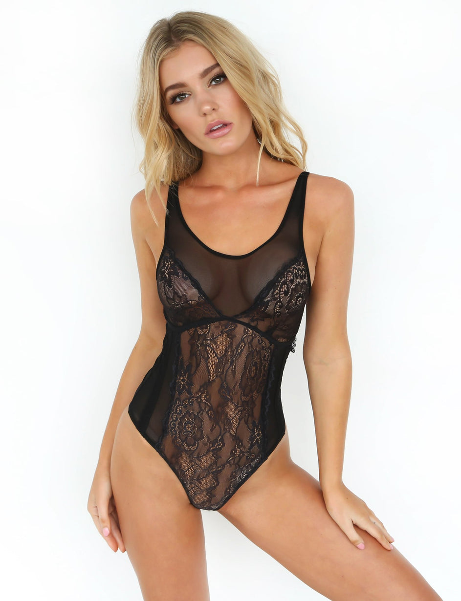 Love Letters Bodysuit - Black