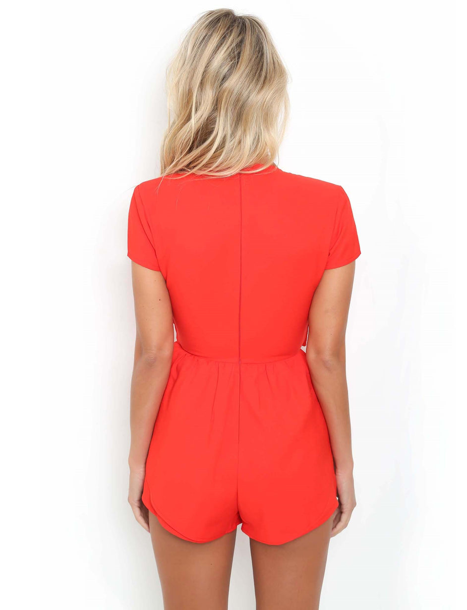 Dreamy Playsuit - Red