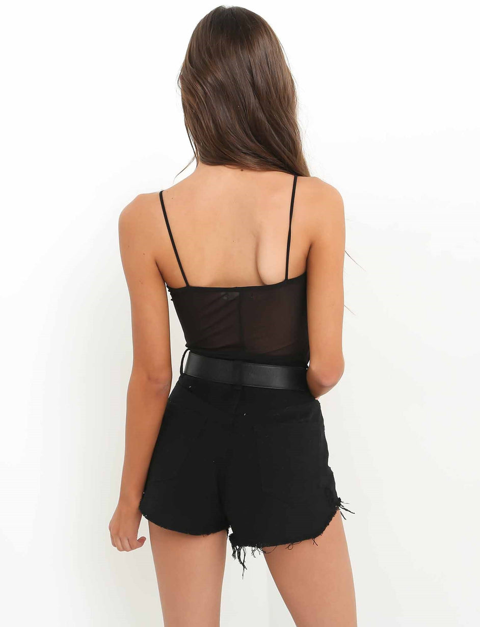 Have It All Bodysuit - Black