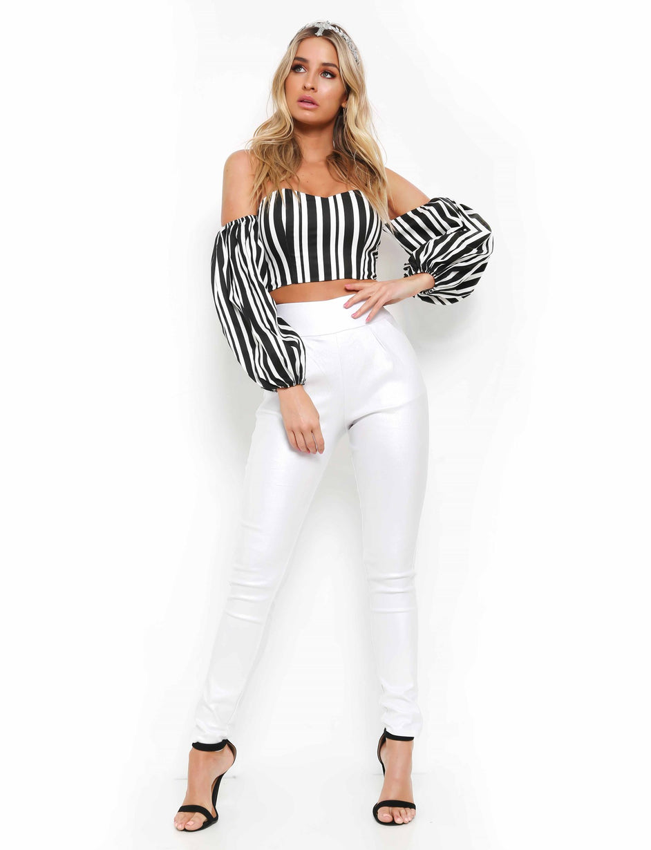 Back It Up Wetlook Pant - White