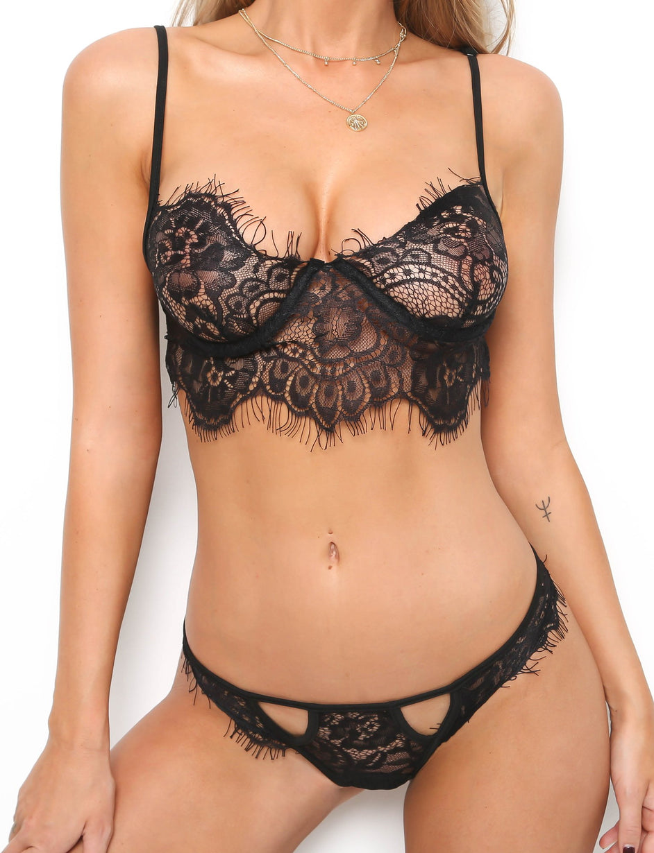 French Kiss Intimates Set - Black