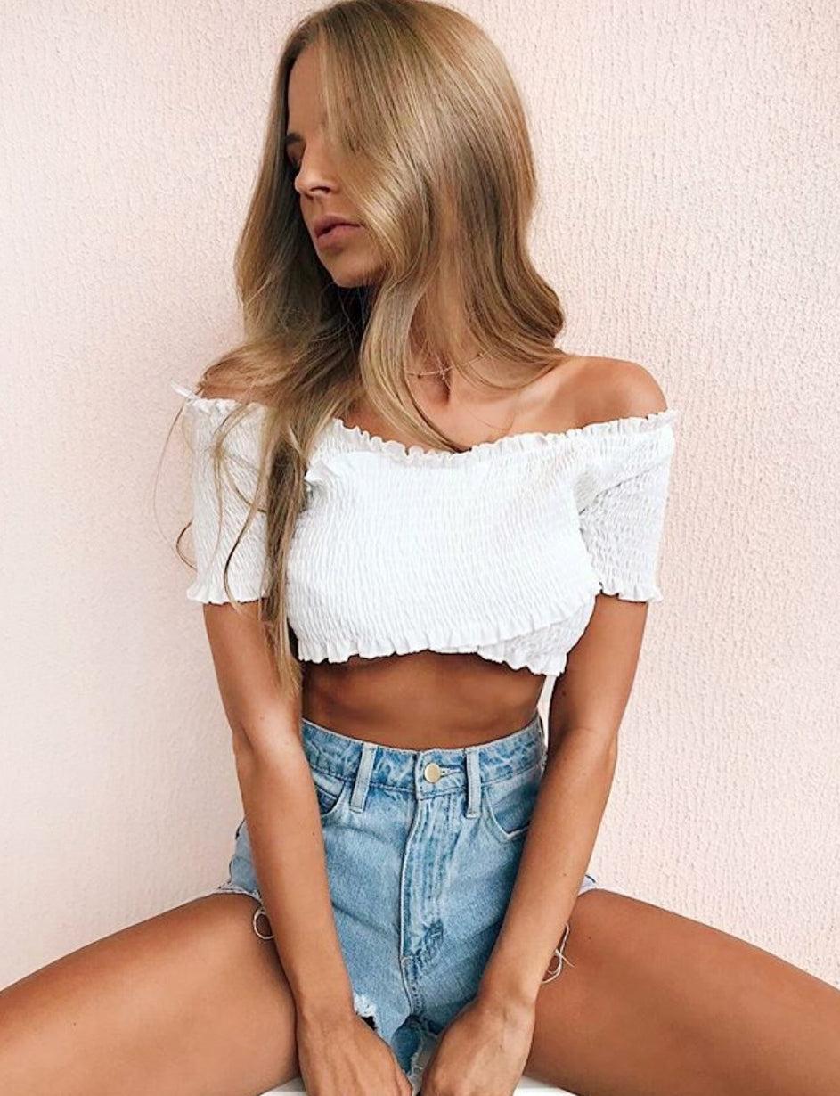 Ingrid Crop - White