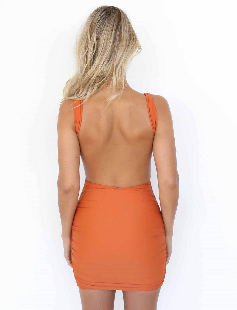 Baywatch Dress - Orange