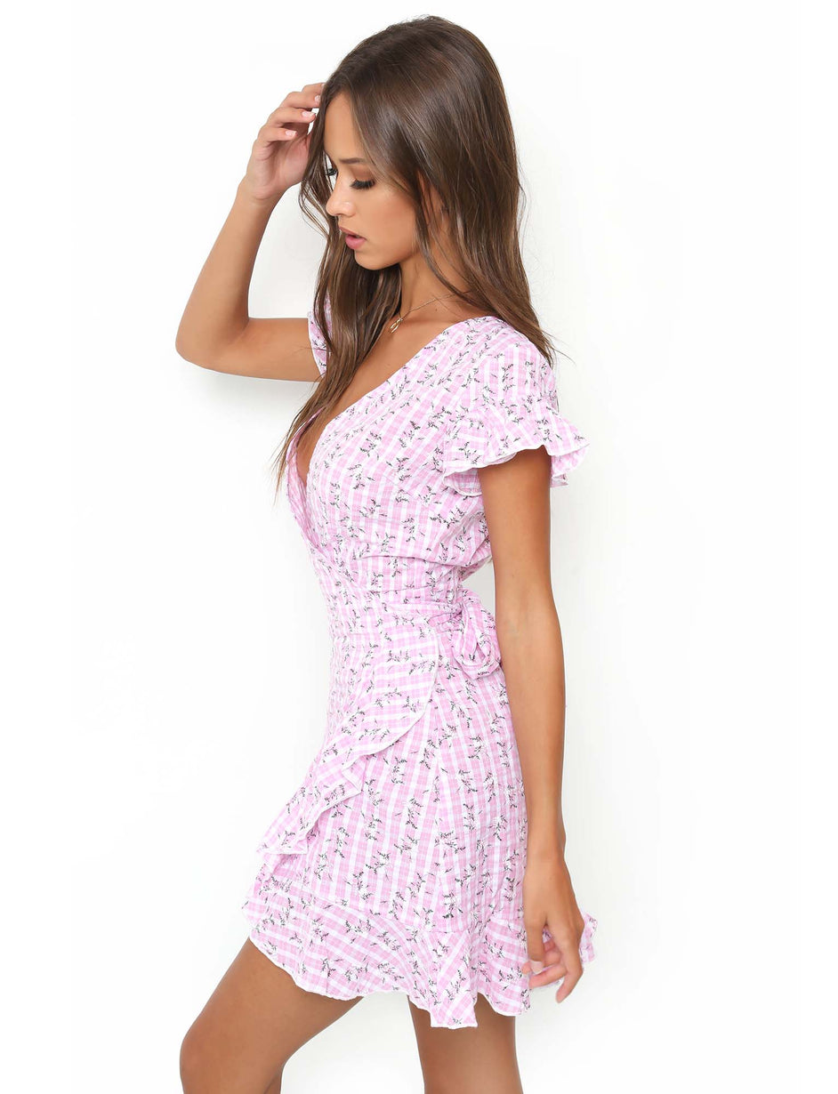 Kacey Dress - Pink Gingham