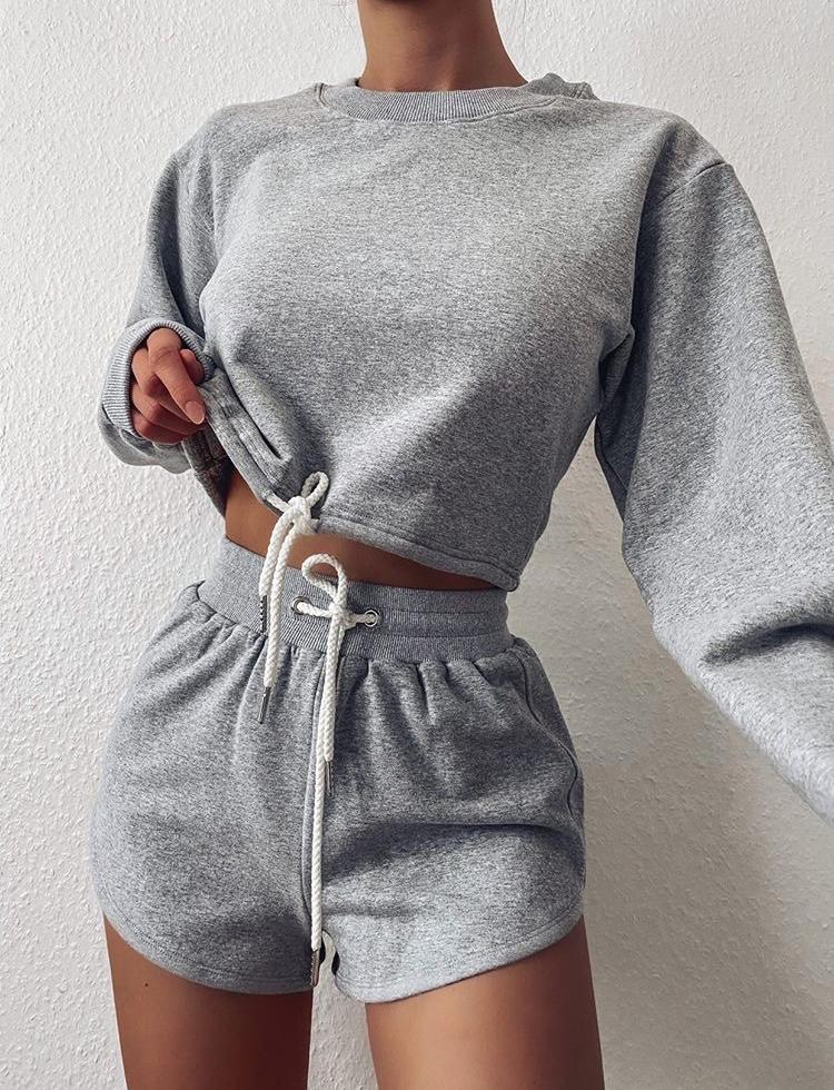 Zanya Track Short - Grey