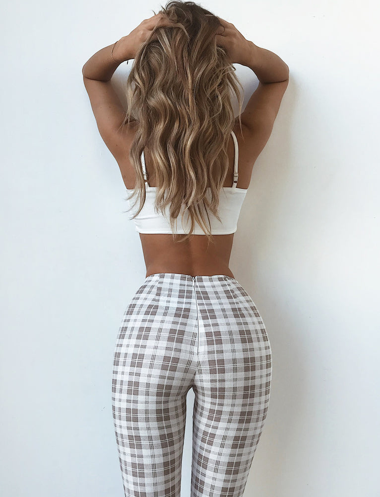 Silence Pants  - Beige Check