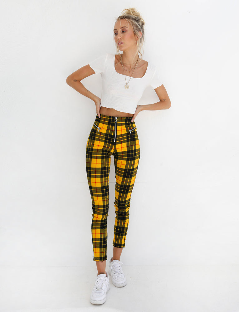 Pearl Pant - Yellow And Black Check