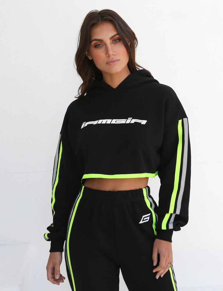 Mercury Hoodie - Black With Neon