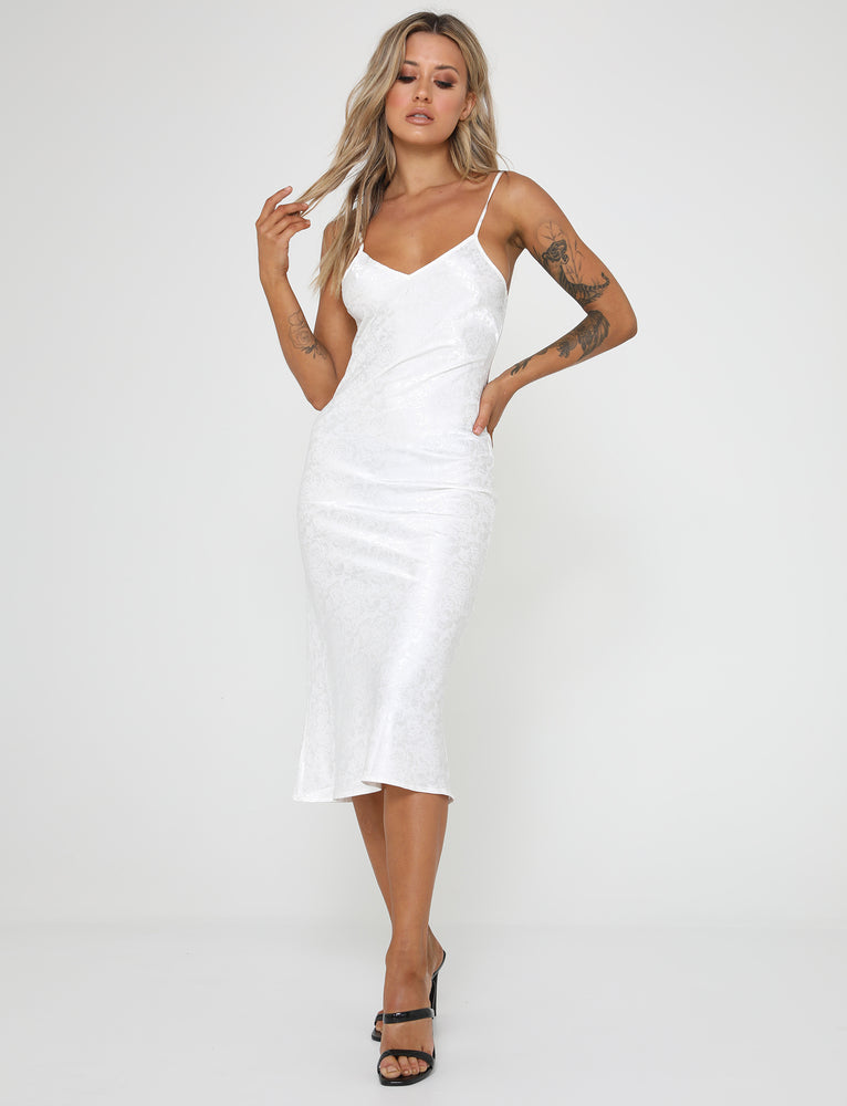 Little Lies Dress - White