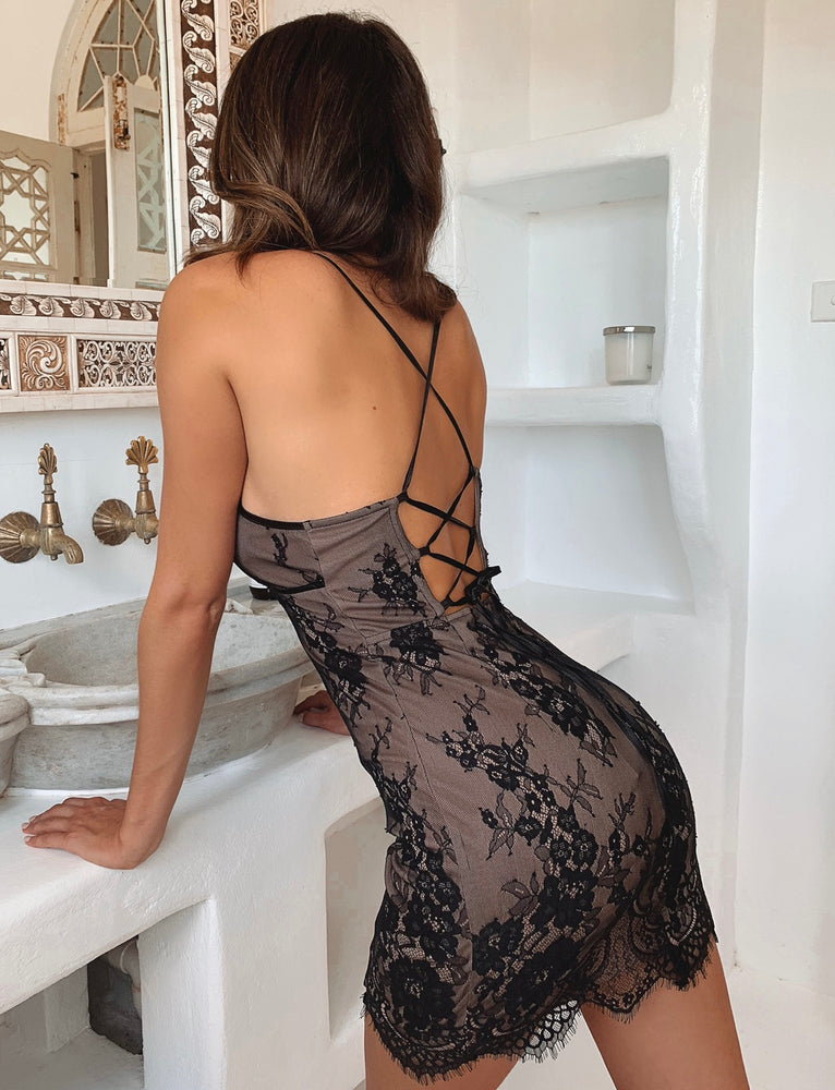 Emery Dress - Black Lace