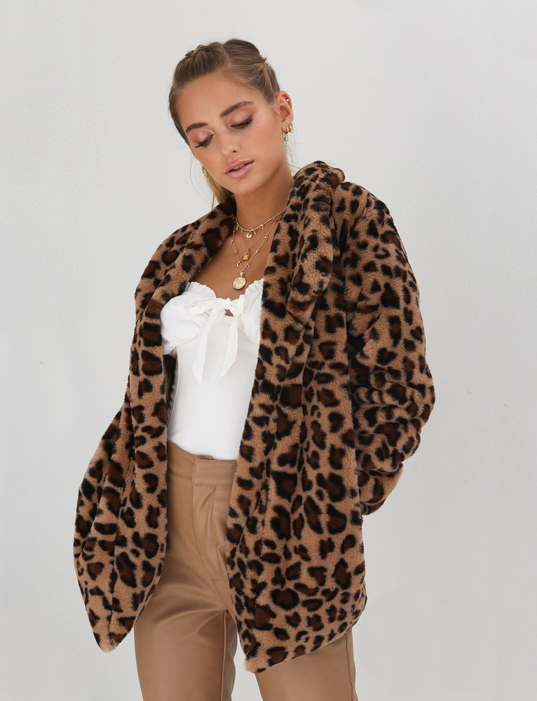 Wild Things Jacket -Leopard