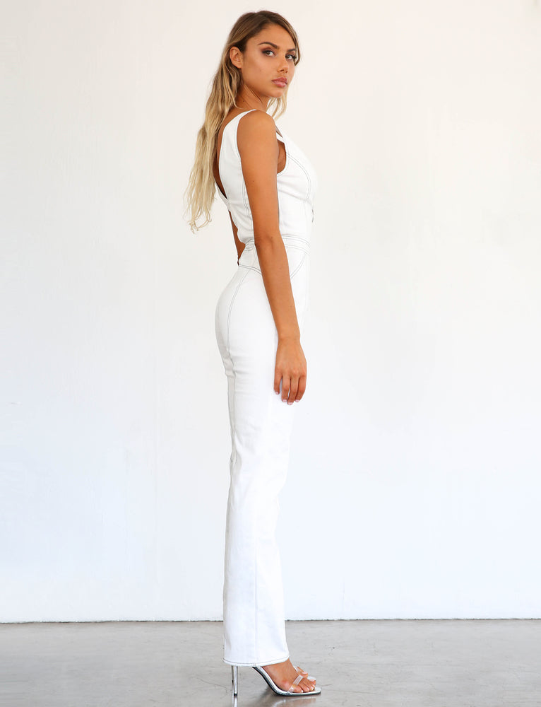 Ava Jumpsuit - White