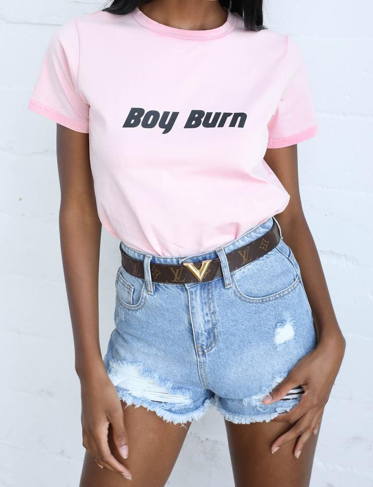 Boy Burn Top - Pink
