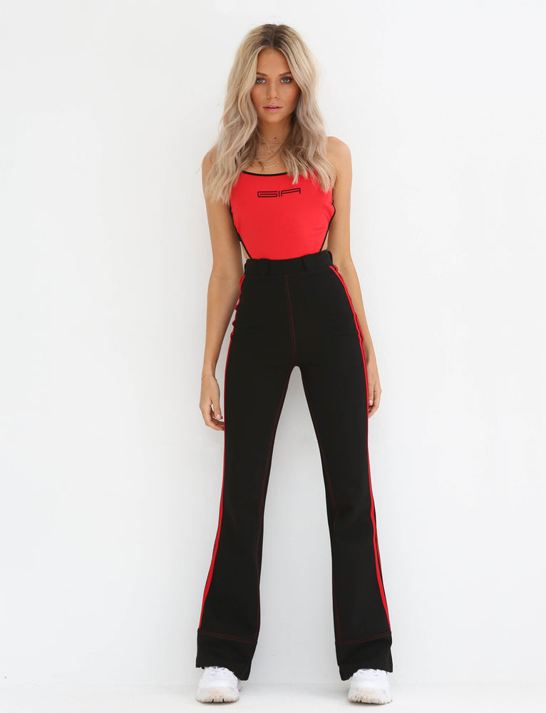 Astrid Pant - Black With Red
