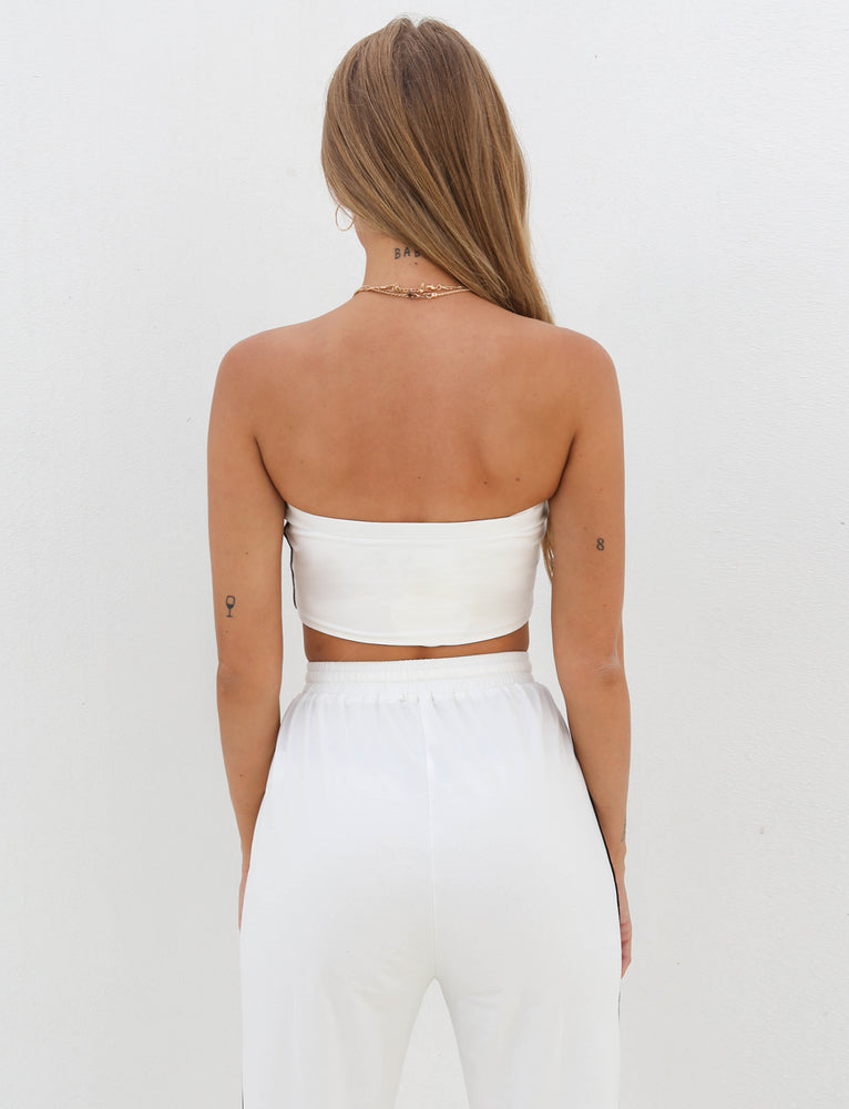 Angie Crop - White