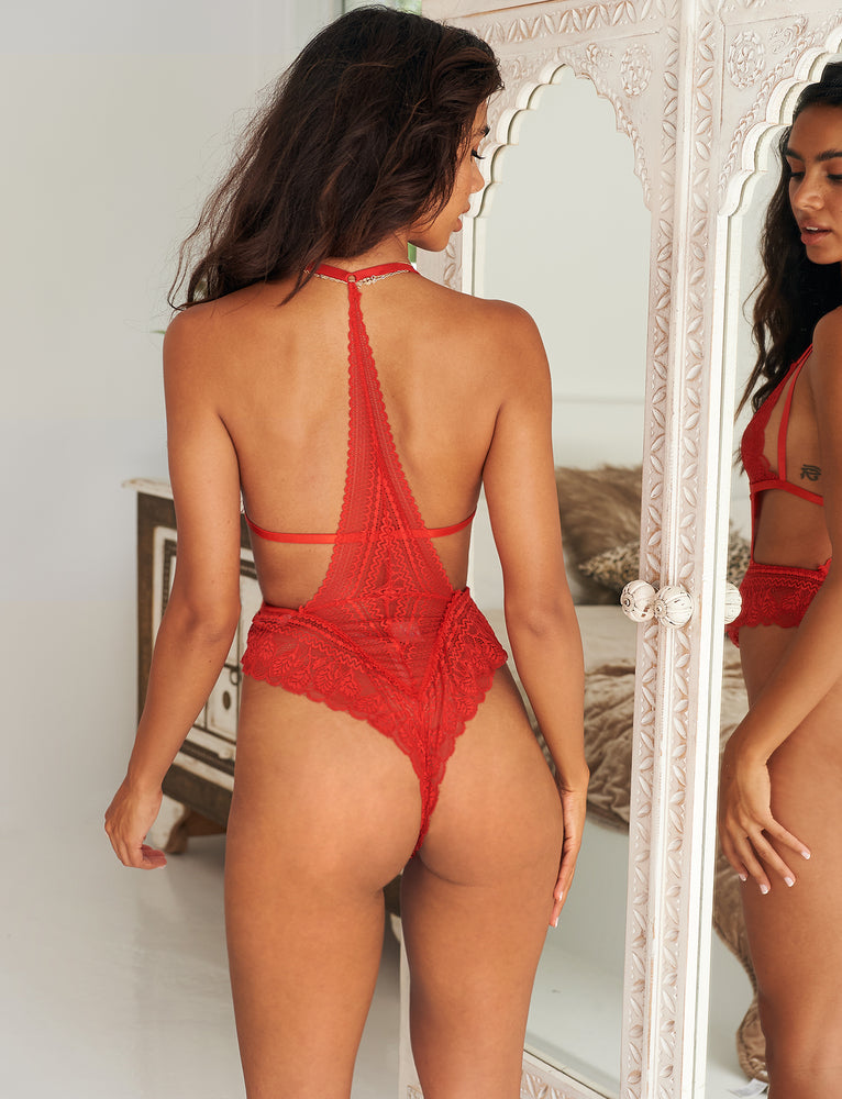 Belinda Bodysuit - Red