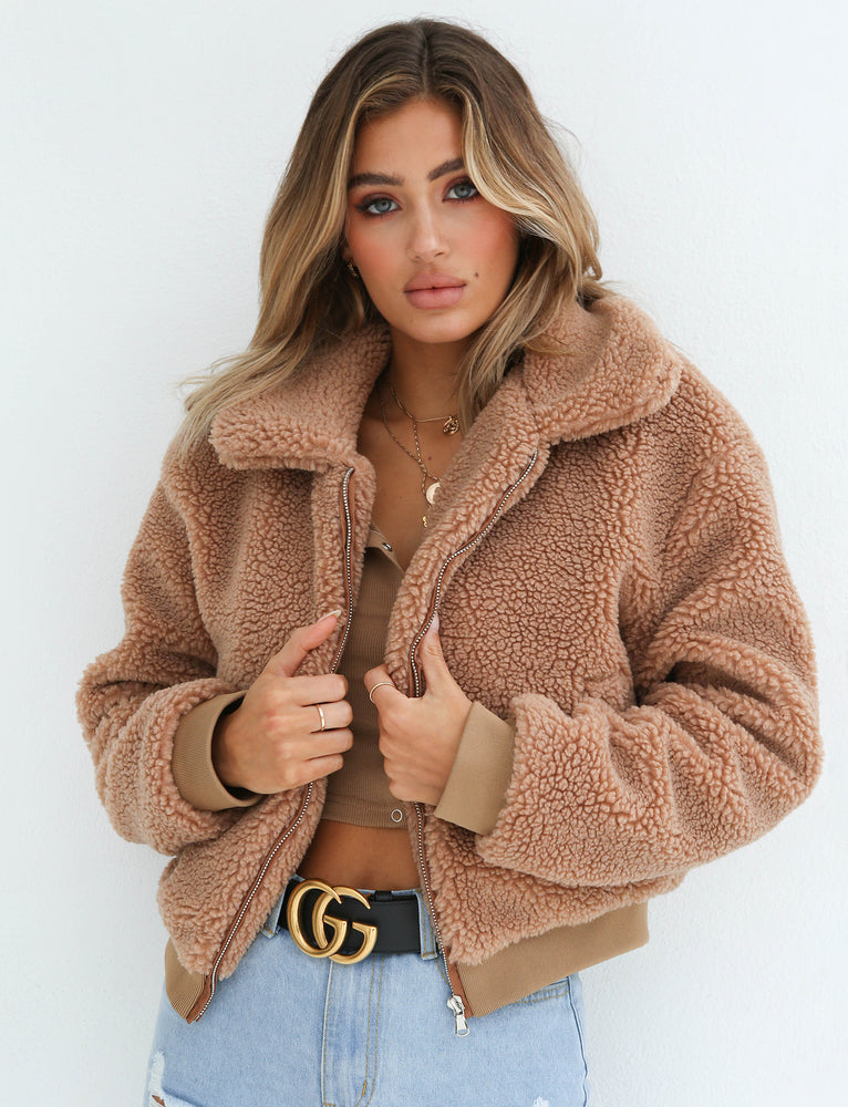 Teddy Jacket - Tan