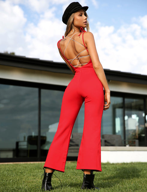 Seattle Jumpsuit - Red