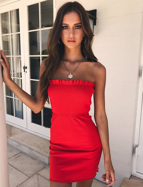 All I Want Mini Dress - Red