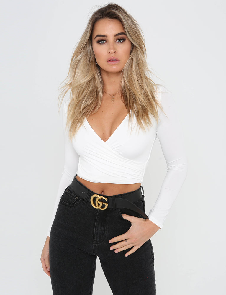 Ollie Long Sleeve Top - White