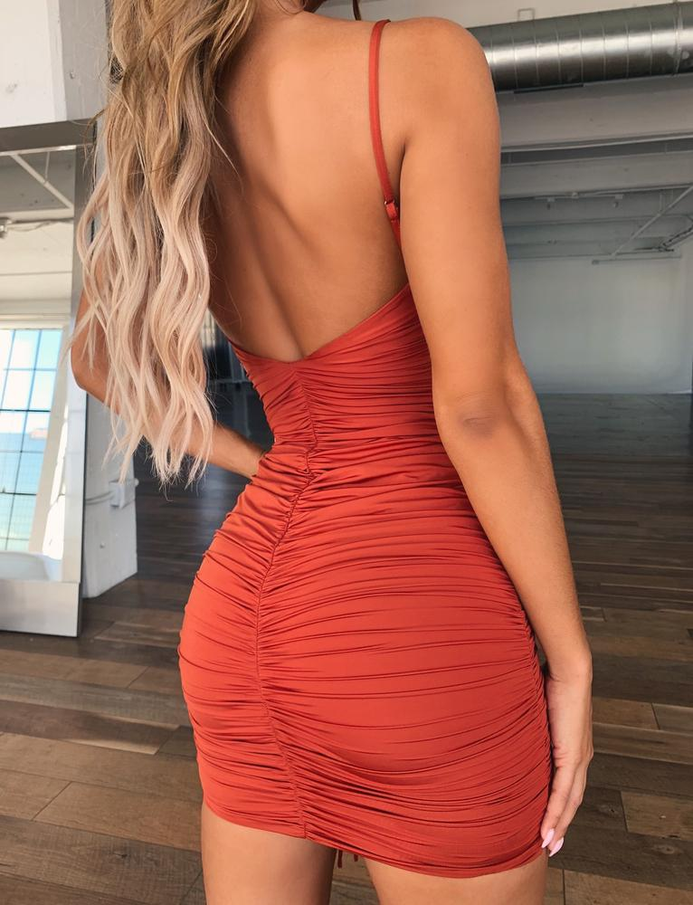 Zion Dress - Rust